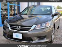 Accord LX, 4D Sedan, 2.4 L I4 DOHC i-VTEC 16V, CVT with