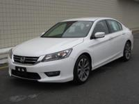 You are looking at a White, 2013 Honda Accord. This is