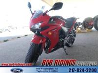 This HONDA CBR500R sportsbike has only 1700 miles on it