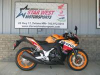 2013 Honda CBR250R CBR 250 REPSOL!!! GET THIS NEW 2013