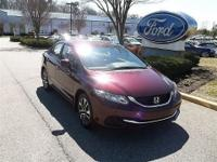 CLEAN CARFAX 2013 HONDA CIVIC EX SEDAN1.8L 4 CYL