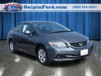 2013 Honda CIVIC 4dr Car LX Our Location is: Galpin