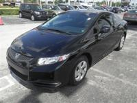 Civic LX, 2D Coupe, Black, 15' Wheels w/Full Covers,