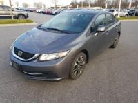 Polished Metal Metallic 2013 Honda Civic EX FWD Compact