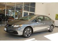 Civic EX, Honda Certified, and Gray w/Cloth Seat Trim.