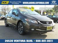 Options:  2013 Honda Civic Sdn Ex-L|Gray/|V4 1.8L