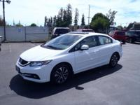 CARFAX One-Owner. 2013 Honda Civic EX-L White One