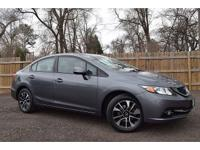 CARFAX One-Owner. Clean CARFAX. Gray 2013 Honda Civic