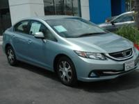 FUEL EFFICIENT 44 MPG Hwy/44 MPG City! Civic trim,