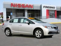 LX trim. FUEL EFFICIENT 39 MPG Hwy 28 MPG City! CARFAX