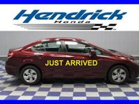 Honda Certified, CARFAX 1-Owner. Bluetooth, CD Player,