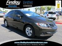 LX trim. CARFAX 1-Owner, Honda Certified. PRICE DROP