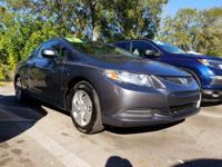 CARFAX One-Owner. Gray 2013 Honda Civic LX FWD Compact