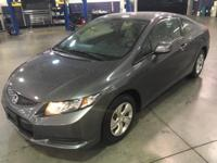 CARFAX One-Owner. Gray w/Cloth Seat Trim.  2013 Honda