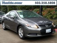 WOW!!! Check out this. 2013 Honda Civic LX Gray 1.8L I4