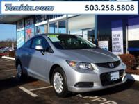 WOW!!! Check out this. 2013 Honda Civic LX Silver 1.8L