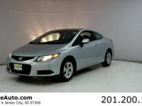 1-OWNER CARFAX CERTIFIED. Civic LX, 2D Coupe, 1.8L I4