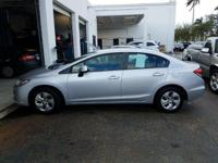 Options:  2013 Honda Civic Lx|Alabaster Silver