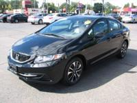 The 2013 Honda Civic is a mid-sized sedan. Some specs