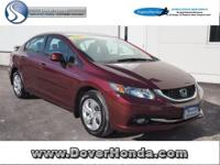 Accident Free Carfax!! 2013 Honda Civic LX, Honda