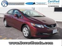 Carfax 1 Owner! Accident Free! 2013 Honda Civic LX,