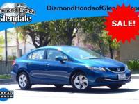 Options:  2013 Honda Civic Lx Blue ***No Haggle