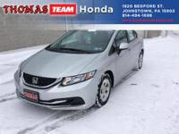 Located at Thomas Team Honda. 1 owner!  LIFETIME Drive