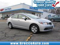 2013 Honda Civic LX Balance of Manufacture Warranty,