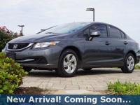 2013 Honda Civic LX in Polished Metal Metallic, This