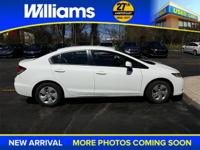 Options:  2013 Honda Civic Lx|White|Aux Port. 15 Wheels