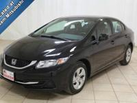 Save money daily with this 2013 Honda Civic. There are
