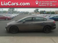 2013 Honda Civic in Brown. Cloth. You NEED to see this
