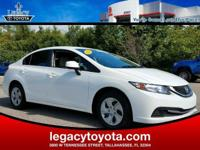 FULLY SAFETY INSPECTED, Civic LX, 4D Sedan, 1.8L I4