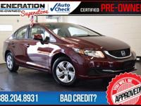 2013 Honda Civic. Red and Ready! Gasoline! Want to