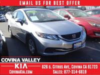 Options:  2013 Honda Civic Lx|Silver|Ask About Our