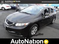 This 2013 Honda Civic Sdn LX is offered to you for sale