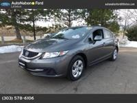 This 2013 Honda Civic Sdn comes with a CARFAX Buyback