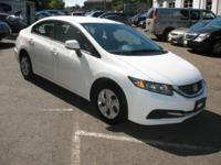 This exceptional example of a 2013 Honda Civic Sdn LX
