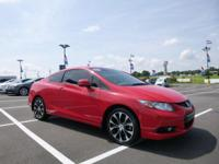 CARFAX One-Owner. Rallye Red 2013 Honda Civic Si FWD