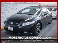 Options:  2013 Honda Civic Si|Black|Backup Camera And