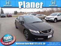 Certified. CARFAX One-Owner. Black. After 182 point