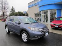 HONDA CERTIFIED 2013 CR-V EX, AWD, SUNROOF, BLUETOOTH,