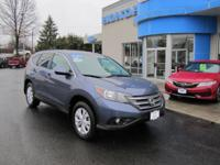 HONDA CERTIFIED 2013 HONDA CR-V EX, AWD, SUNROOF, ALL