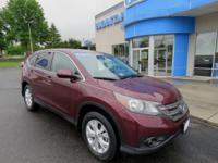 Honda Certified 2013 CR-V, AWD, Sunroof, Bluetooth and