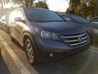 Clean CARFAX. Gray 2013 Honda CR-V EX FWD 5-Speed