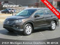 New Price! 2013 Honda CR-V CARFAX One-Owner. CR-V EX-L,