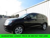 Black 2013 Honda CR-V EX-L AWD 5-Speed Automatic 2.4L
