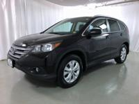 Clean CARFAX. Crystal Black Pearl 2013 Honda CR-V EX-L