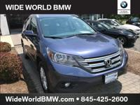 New Price! CARFAX One-Owner. Blue 2013 Honda CR-V EX-L