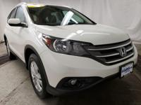 White Diamond Pearl 2013 Honda CR-V EX-L AWD 5-Speed